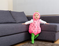 Baby girl dressed in halloween party costume Royalty Free Stock Photo