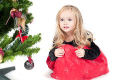 Baby girl dressed up for Christams Royalty Free Stock Photography