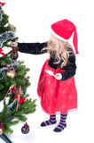 Girl dressed up for Christams Royalty Free Stock Photography