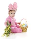 Baby Girl Easter Bunny Stock Image