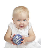 Baby girl with easter egg Stock Photography