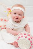 Baby Girl at Easter Stock Photography