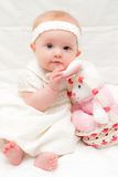 Baby Girl at Easter Stock Images