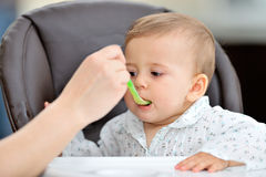 Baby girl eating Stock Photography