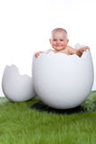 Baby girl in egg Stock Images