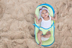 baby girl enjoying summer Royalty Free Stock Photo