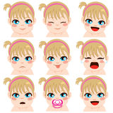 Baby Girl Expressions Stock Image
