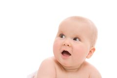 Baby girl face Royalty Free Stock Images