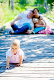 Baby girl with family Royalty Free Stock Images