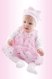 Baby girl in fancy dress stock images