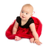 Baby Girl in Fancy Dress Stock Image