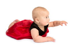 Baby Girl in Fancy Dress Royalty Free Stock Image