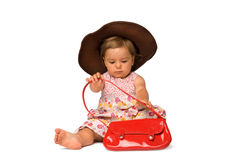 Baby Girl Fashion Model Royalty Free Stock Photography