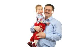 Baby girl with father royalty free stock photo