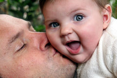 Baby girl and father Royalty Free Stock Images