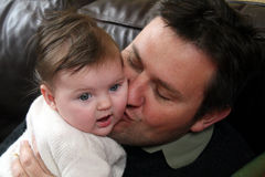 Baby girl and father royalty free stock photography