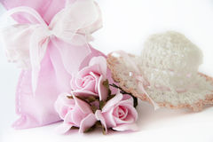 Baby girl favors Stock Image