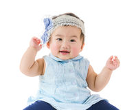 Baby girl feel excited Royalty Free Stock Photography
