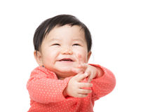 Baby girl feeling excited Royalty Free Stock Photo