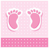 Baby Girl Feet Royalty Free Stock Images