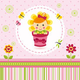 Baby girl flower Royalty Free Stock Photos
