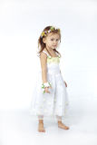 Baby girl in flower dress Royalty Free Stock Image