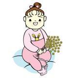 Baby Girl Flowers Stock Image