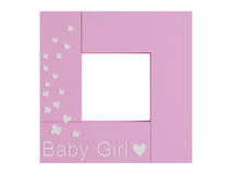 Baby girl frame Royalty Free Stock Images