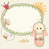 Baby Girl Frame Royalty Free Stock Photos