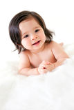 Baby Girl on Fur stock photos