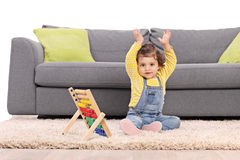 Baby girl gesturing with her hands Royalty Free Stock Image