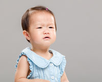 Baby girl get angry Stock Photos