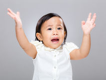 Baby girl get angry Stock Images