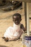 Baby girl in ghana Stock Image