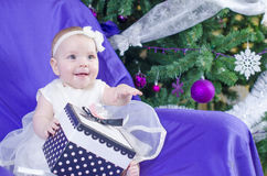 Baby girl gift Royalty Free Stock Photo