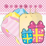 Baby girl gift card Stock Photo
