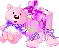 Baby girl gifts Royalty Free Stock Photography