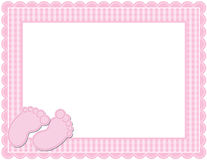 Baby Girl Gingham Frame Royalty Free Stock Images