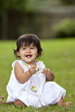 Baby Girl in grass Royalty Free Stock Image