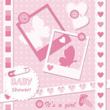 Baby girl greeting card Royalty Free Stock Photography
