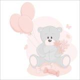Baby girl greeting card Royalty Free Stock Photo