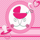 Baby girl greeting card Royalty Free Stock Images