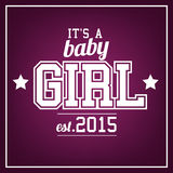 Baby Girl. 2015  Greeting card Stock Photo