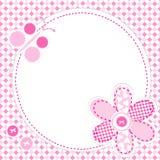 Baby girl greeting card Stock Photos