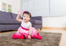 Baby girl hand up Royalty Free Stock Photo