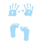 Baby girl handprint - footprint vector illustration