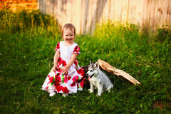 Baby girl. Royalty Free Stock Photos