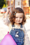Baby girl happy portrait. With balloon Royalty Free Stock Photos