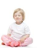The baby girl has easy mood Royalty Free Stock Photo