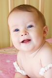 Baby Girl Head Shot Stock Images